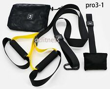 SUSPENSION TRAINING BODY TRAINER FITNESS BODYWEIGHT Gym Straps Pro3-1  learner