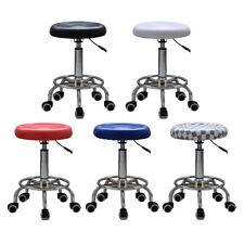 ROUND Salon Stool PU Swivel Barber Hair Dress Chair Seat Hydraulic Lift