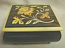 "Inlaid Wood MUSIC BOX by SORRENTO SPECIALTIES w/ REUGE Swiss Movement ""Fantasia"""