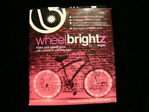WheelBrightz LED Bicycle Light Kit Pink New in Box Wheel Brightz