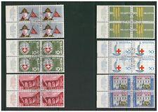 SWITZERLAND HELVETIA 1963 PUBLICITY ISSUE SET OF 6 BLOCKS OF 4 MARGINS VFU