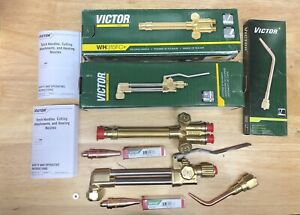New Victor Journeyman Cutting Welding Torch Set CA2460+, 315FC+,brazing, 2 Tips