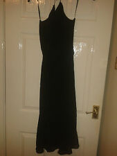 Womens Full Length Maxi Dress - Coast - Black - Sleeveless - Halter Neck - 10