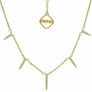 MEME LONDON 18ct Gold Plated Luxury Necklace Cute Birthday Xmas Gift RRP £140