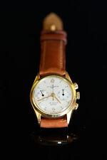 "Ulysse Nardin, raro cronografo bicompax ""vintage"" di 29,00 mm. in oro 750-18K."