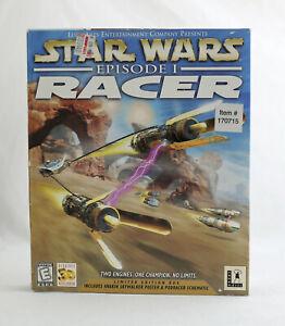 SEALED ~ Vintage LucasArts Star Wars Episode 1 RACER - Limited Edition Big Box