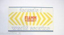 ADESIVO AUTO F1 anni '80 / Old Sticker Vintage FIAMM FORMULA UNO (cm 11 x 6)