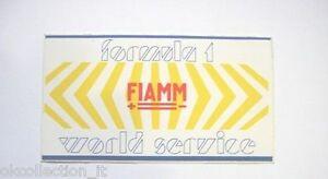 VECCHIO ADESIVO AUTO F1 / Old Sticker FIAMM FORMULA UNO WORLD SERVICE (cm 11 x6)