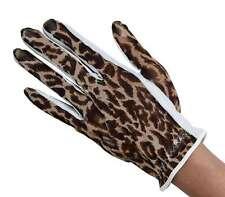 Ladies Solar Tan Golf Gloves Large Left Hand Brown Leopard Animal Print Gift