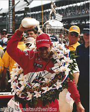 INDY CAR HELIO CASTRONEVES SIGNED 8X10 PHOTO INDIANAPOLIS 500 CHAMPION 13 W/COA
