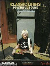 Green Day Mike Dirnt Fender Super Bassman Amp & Precision Bass guitar 8 x 11 ad