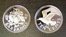 BARBADES 10 CENTS 1975 PROOF