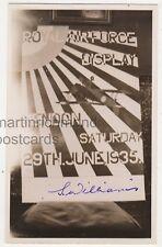 RAF Display Hendon 1935, Signed S. Williams RP Postcard B756