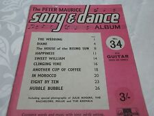THE PETER MAURICE SONG & DANCE MUSIC BOOK NO.34 WITH GUITAR CHORDS & SYMBOLS