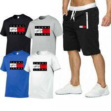 Tommy Hilfiger Herren Shortanzug Jogginganzug Trainingsanzug Short T-Shirt