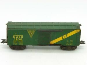 "Marx 3/16""  O GAEX 1950 Box Car on Scale Trucks with Plastic Scissor Couplers"