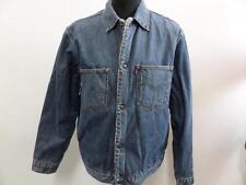 """Levi's 71511 04 Vintage doublé de fourrure veste en jean bleu taille L 44"""" très bon SKU WB010"""