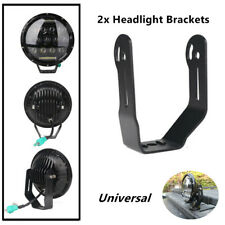 2X LED Roof Front Bar 7''Round Headlight Bracket Mounting Spotlight Holder Part