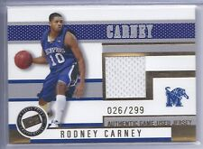2006 Press Pass Basketball Rodney Carney Memphis Jersey Card #026/299