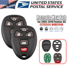 2X Replacement For 2005 2006 2007 2008 2009 2010 Pontiac G6 Remote Key Fob