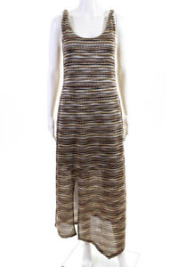 Sanctuary Womens Scoop Neck Sleeveless A-Line Knit Maxi Dress Brown Size Small