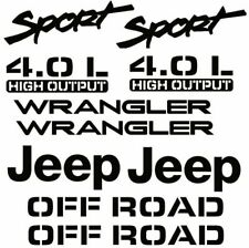 jep Sport 4.0 L Replacement Vinyl Decals Stickers Tj Off Road