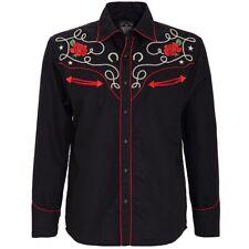 King Kerosin Rockabilly Vintage Retro Western Hemd Shirt - Mexican Sugar Skull
