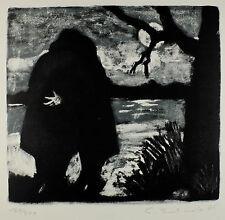 Ernst Leonhardt: Einsamer Wanderer am See.