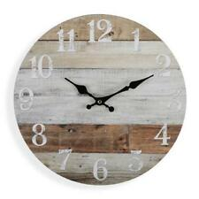 WALL CLOCK Weathered Boards 34cm | Beach Clock Coastal House Kitchen Decor