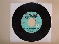 "WE THREE AND SHE: You're A Woman I'm A Man- Look At Me-U.S. 7"" TUBA Records 2003"