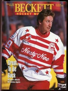 Beckett Hockey Monthly #52 February 1995 Great to be Back Wayne Gretzky Cover VG