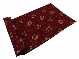 Maroon Dressmaking Fabric Cotton Fabric Cloth Printed By The Yard Material CPF07