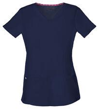 HeartSoul Women's Pitter Pat Shaped Patch Pocket V Neck Nursing Scrub Top. 20710