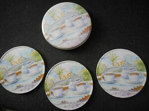 3 Coasters in a Tin   NEW