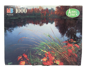Vintage 1000 Piece Puzzle MB Big Ben Gulf Hagas Reserve Maine Scenic Fall Lake
