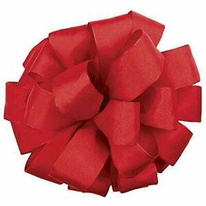 Offray Revogue Wired Edge Ribbon 1-1/2-Inch by 50-Yard Scarlet