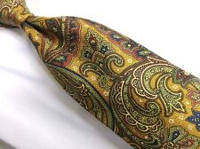"""Burberry London Paisley Brown Multi Necktie, Made In Italy 100% Silk, 4""""W/60""""L"""