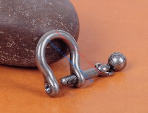 5PC Vintage Silver Shackle Joint Connect Key Chain D Hook Leathercraft Hardware