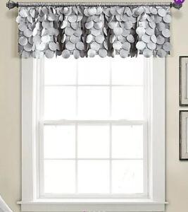 "Lush Decor, Gigi Valance Textured Window Kitchen Light Gray 14 X 70"" 1 Piece"