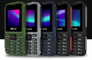 """BLU Tank Mini T650 1.8"""" GSM Unlocked Dual-SIM Flashlight Cellphone Blue Green"""