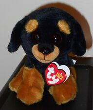 "Ty Beanie Baby ~ TREVOUR the 6"" Rottweiler Dog ~ 2017 NEW with MINT TAGS IN HAND"