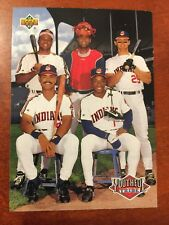 1993 Upper Deck YOUTHFUL TRIBE Cleveland Indians 45 BELLE THOME LOFTON BAERGA +