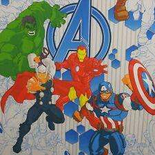 Marvel Avengers Twin Flat Bed Sheet  65x96 Polyester Iron Man Thor Hulk America