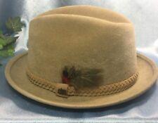 SUPER CLEAN Vintage Stetson Imperial Fedora Hat: Size 7 Camel Brown.#6066