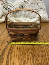 Longaberger 1991 Red Green Blue Rectangle Small Basket