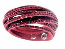SLAKE SIAM CRYSTAL BRACELET, WRAP AROUND RED 2017 SWAROVSKI JEWELRY #5297365