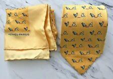 d25a8f5ab94a Hermes 100% Authentic Silk Tie Model 7851 UA & Matching Pocket Square Rare
