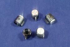 "5 Alco knob KPN-500BA  1/4"" shaft  Black & Silver Aluminum Knobs Made in Japan"