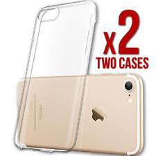 (2) Two iPhone 7 Clear Case Slim Bumper Ultra Thin TPU Rubber Gel