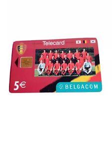 Belgium sports phonecard. Football team player's. URBSFA KBVB 1895. A few marks